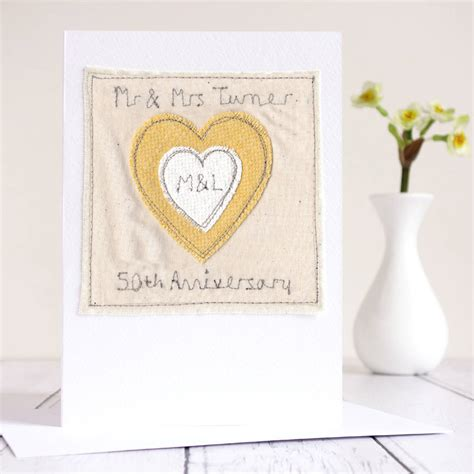 50th Wedding Anniversary Card Uk by Personalised 50th Wedding Anniversary Card By Milly And