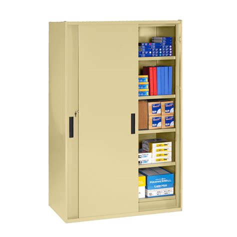 Jumbo Storage Cabinet Tennsco Jumbo Storage Cabinet With Sliding Doors Jsd2478su Wsu X Storage Cabinets