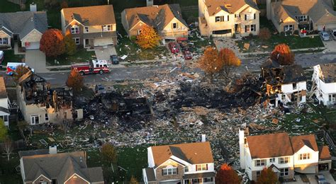 House Explosion by Indianapolis Home Gas Explosion