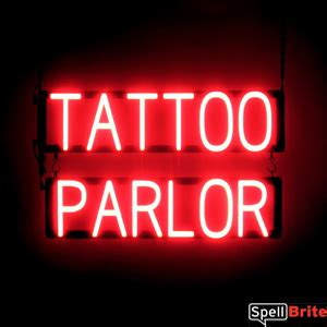 tattoo parlor signs tattoo parlor signs spellbrite led better than neon