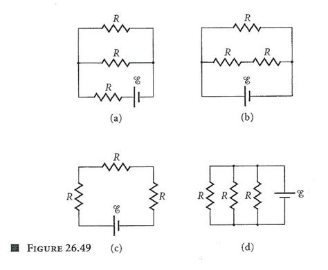 three resistors connected in parallel each carry currents labeled consider the following circuits constructed from chegg