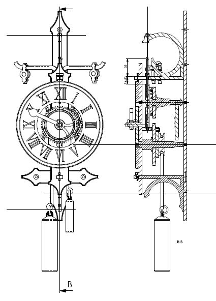 automata blog   wooden clock plans