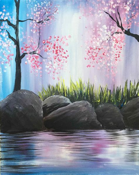 spring painting ideas decor how to paint art easy spring landscape paintings