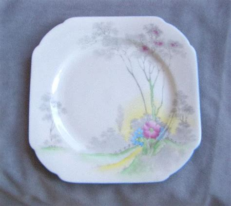 Shelley Pattern Numbers List | square shelley china plate pattern no 0148g from