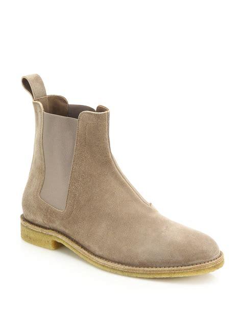 bottega veneta mens boots bottega veneta suede chelsea boots in for