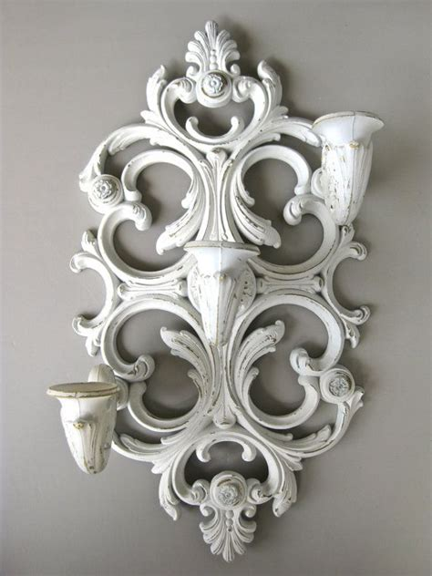 White Wall Sconce Candle Holders homco wall sconce white wall sconce candle holder ornate candle ho