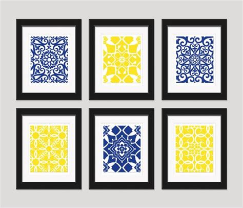 Yellow Wall Decor by Bathroom Navy Yellow Wall Blue Yellow Home
