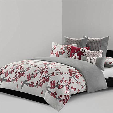sakura oriental comforters n natori 174 cherry blossom reversible duvet cover bed bath beyond