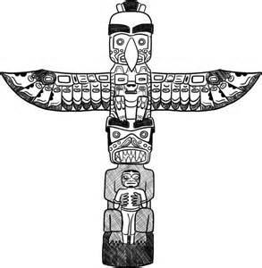Back &gt Gallery For Otter Totem Pole Drawing sketch template