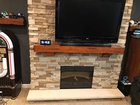 building  airstone fireplace game room info