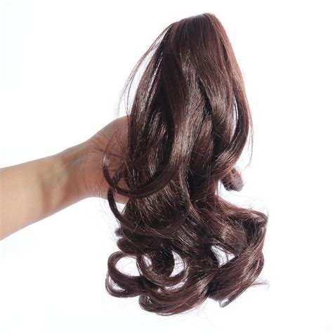 Ponytail Jepit Curlyhaircliphair Clipwig vogue hairpiece wavy curly claw hair ponytail clip on hair extensions ebay