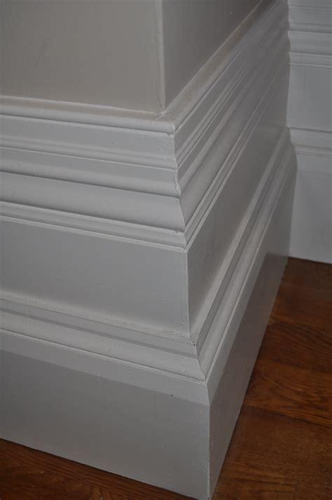 extended stepped skirting board corridor