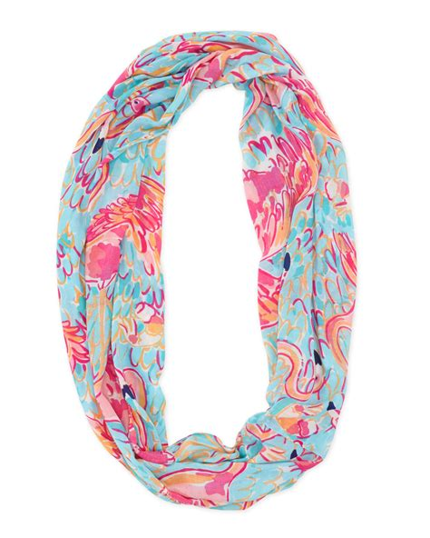 lilly pulitzer printed infinity scarf lyst
