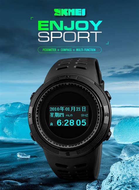 Skmei Jam Tangan Analog 9088cl skmei jam tangan digital pria kompas pedometer kalori