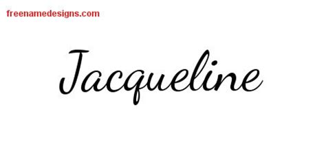 tattoo name jacqueline jacqueline archives free name designs