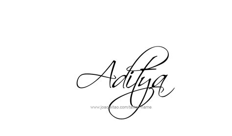 aditya name tattoo designs