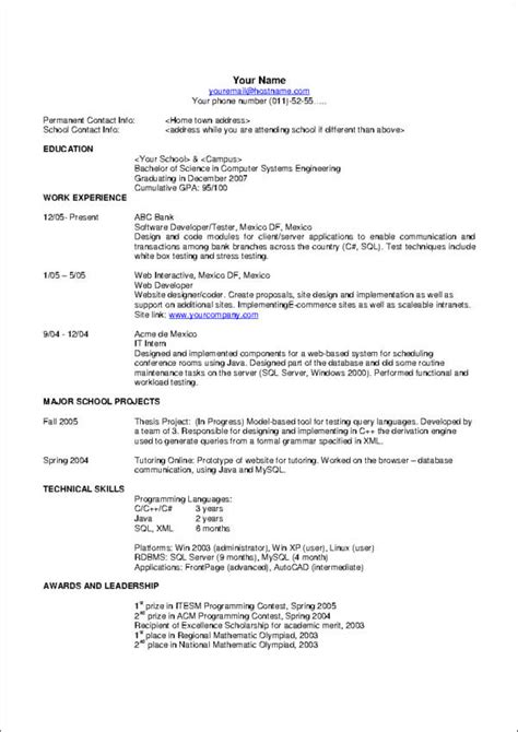resume format us style 10 commandments of resume writing sle templates