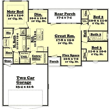 split two bedroom layout three bedroom split layout 11758hz 1st floor master