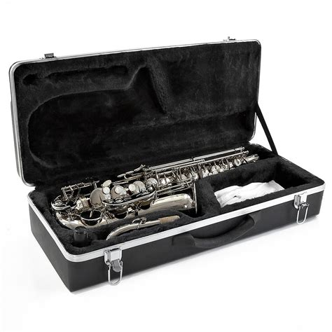 nearly new alto saxophone by gear4music nickel nearly new at