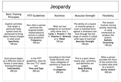 Pe Lesson Plan Template From Terristeachingtreasure On Lesson Plan