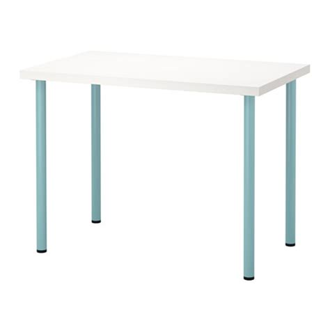 Leveling Furniture On Uneven Floors by Linnmon Adils Table White Light Turquoise