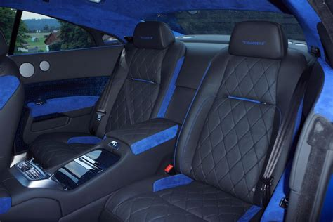 Leather Auto Upholstery - two tone blue leather custom car upholstery