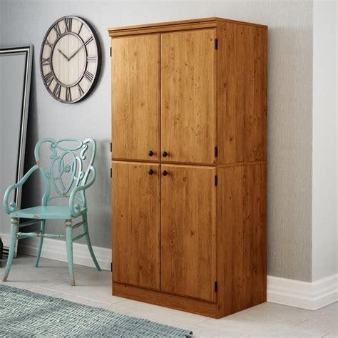 morgan 4 door storage cabinet south shore morgan 4 door storage cabinet in country pine