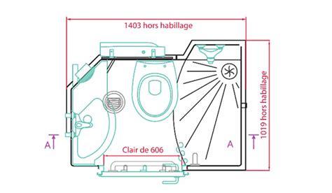 Salles de bain préfabriquées : cabine 3 en 1 Douche WC et