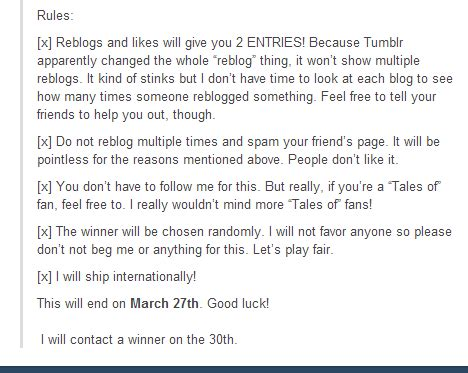 Tumblr Giveaway Rules - tumblr for business writing content about your company