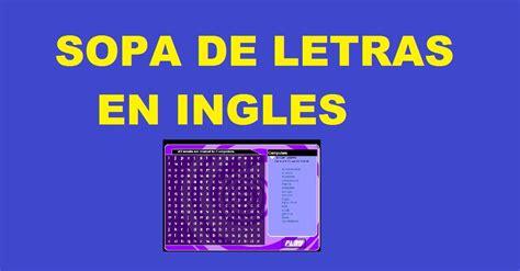 imagenes de jugar en ingles sopa de letras en ingles palabras en ingles