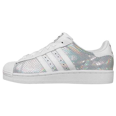 adidas originals superstar 2 w silver white womens casual