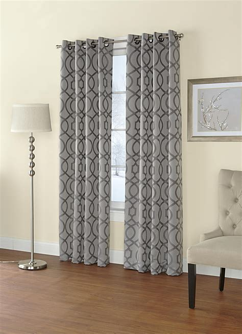drapes grommet top regal home jacquard grommet top single curtain panel