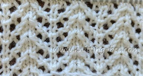 knit chevron pattern eyelet yarn and twist stitches 17 free knitting