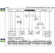 1989 Toyota Corrola AE92 4AGE ECU Wiring Diagram