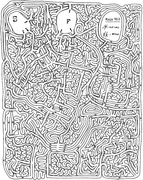complicated coloring pages for adults andrew bernhardt s andrew bernhardt s mazes home page