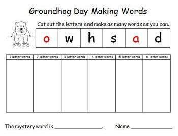 groundhog day meaning phrase free printable groundhog day and words on
