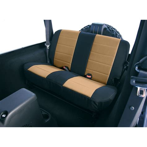 Cj Upholstery by Neoprene Rear Seat Covers 80 95 Jeep Cj Wrangler Yj
