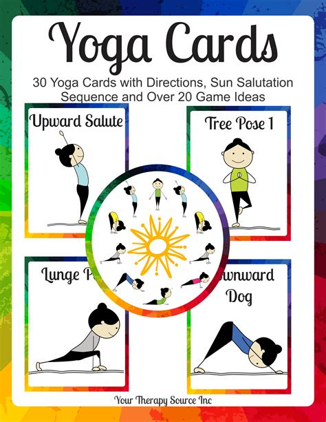 printable children s yoga cards yoga cards and game ideas your therapy source