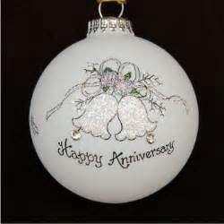 anniversary bells christmas ornament personalized