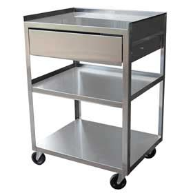 Stainless Steel Utility Cart With Drawers by Carts Ss Carts