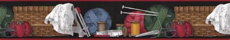 wallpaper borders for craft room sewing room scisor thimble wallpaper border 10035601 ebay
