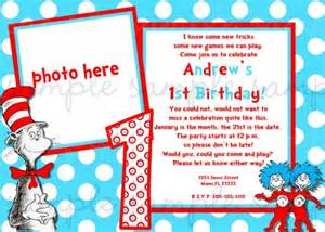 dr seuss cat in the hat birthday invitation digiprintsbytnl cards on artfire