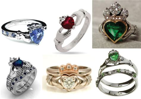 Wedding Rings Gemstones by Claddagh Rings For Bridal And Sapphires