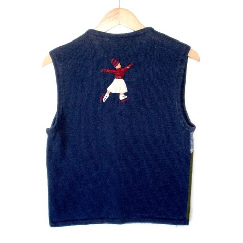 Sweater Skaters quot faceless figure skaters quot sweater vest the sweater shop