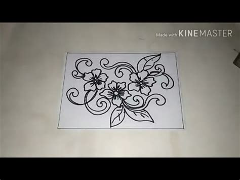 tutorial cara menggambar flora cara menggambar batik motif bunga 3 youtube