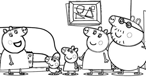 dibujos para pintar pepa peppa cerdo pig abuelos visito p 225 ginas para colorear