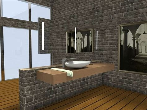 design room 3d online free with modern wooden and lcd tv 3d floor plan for contemporary bathroom with stone walls
