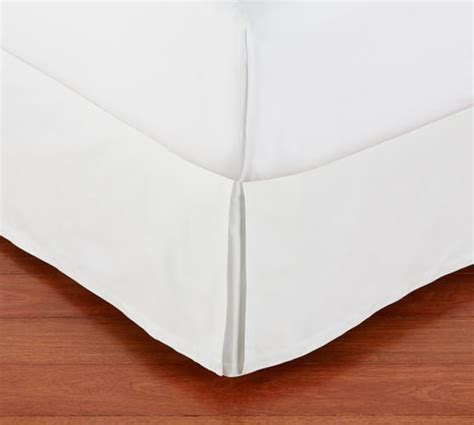 pb basic pleated bed skirt pottery barn