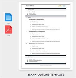 word outline template blank outline template 11 exles and formats for