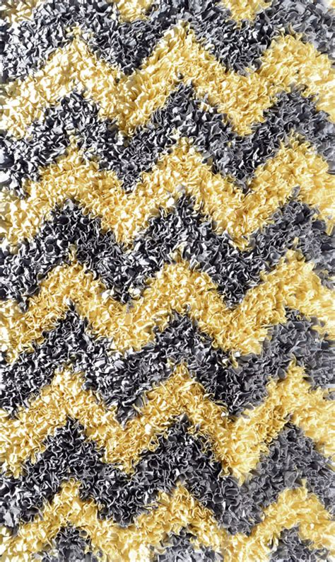 gray and yellow chevron rug yellow and grey chevron shaggy raggy rug by the rug market